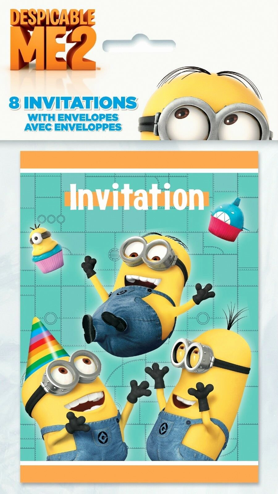 Minions Birthday Invitation Template Best Of Despicable Me 2 Minions Party Birthday Invitations with