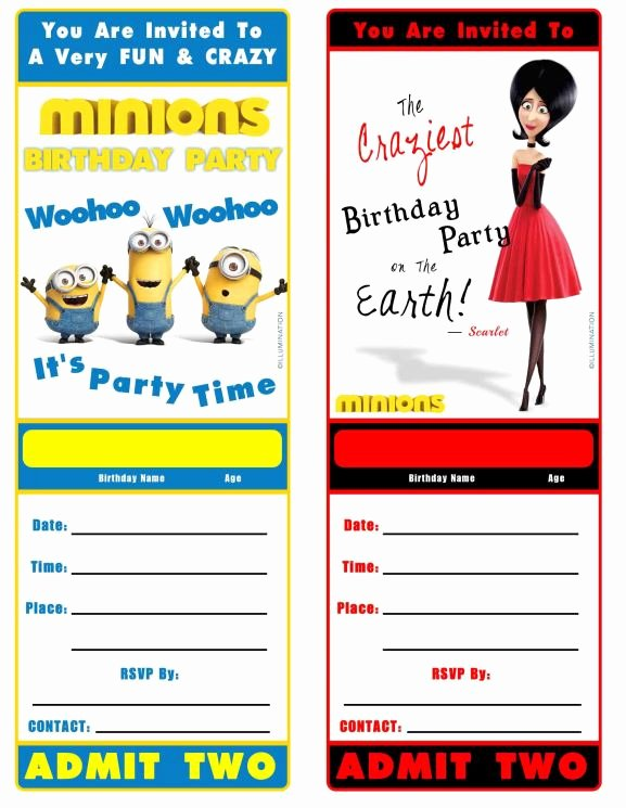 Minions Birthday Invitation Template Elegant Free Minion Movie Printable Birthday Invitation Minions