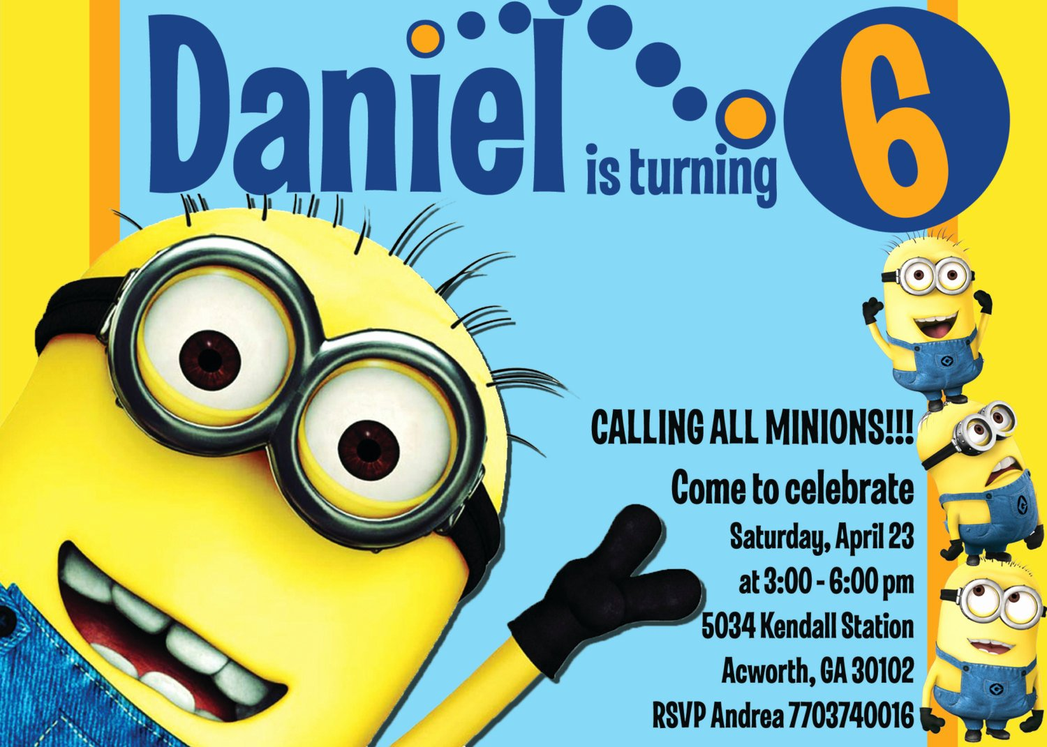 Minions Birthday Invitation Template Elegant Minion Invitations Templates