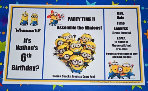 Minions Birthday Invitation Template Inspirational 301 Moved Permanently