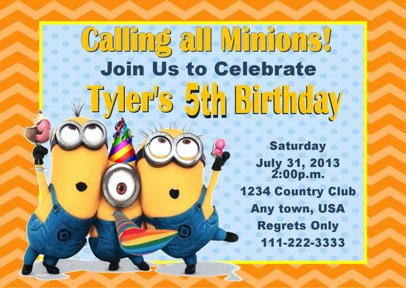 Minions Birthday Invitation Template Inspirational Unavailable Listing On Etsy