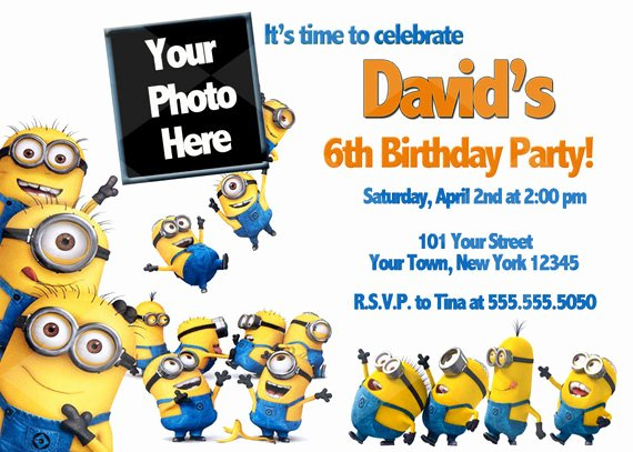 Minions Birthday Invitation Template Lovely Free Printable Minion Birthday Party Invitations Ideas