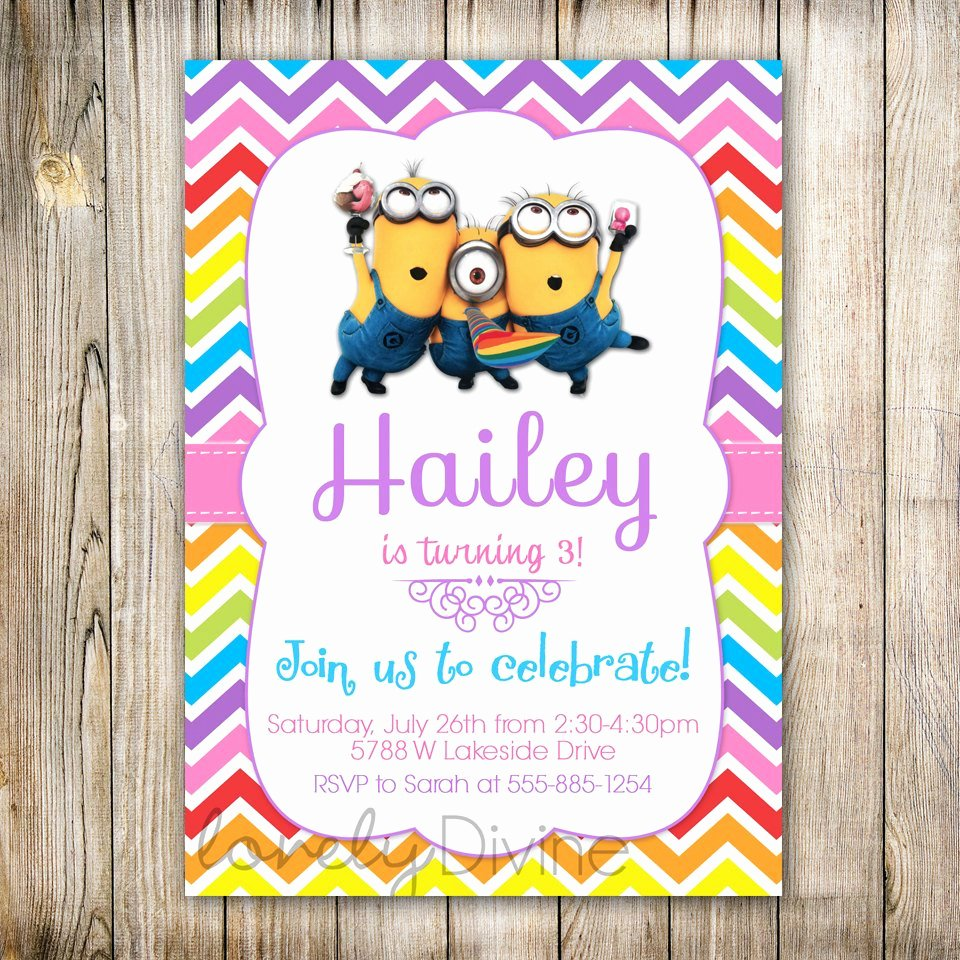 Minions Birthday Invitation Template Luxury Minions Birthday Invitation Minions Invite Minions Movie