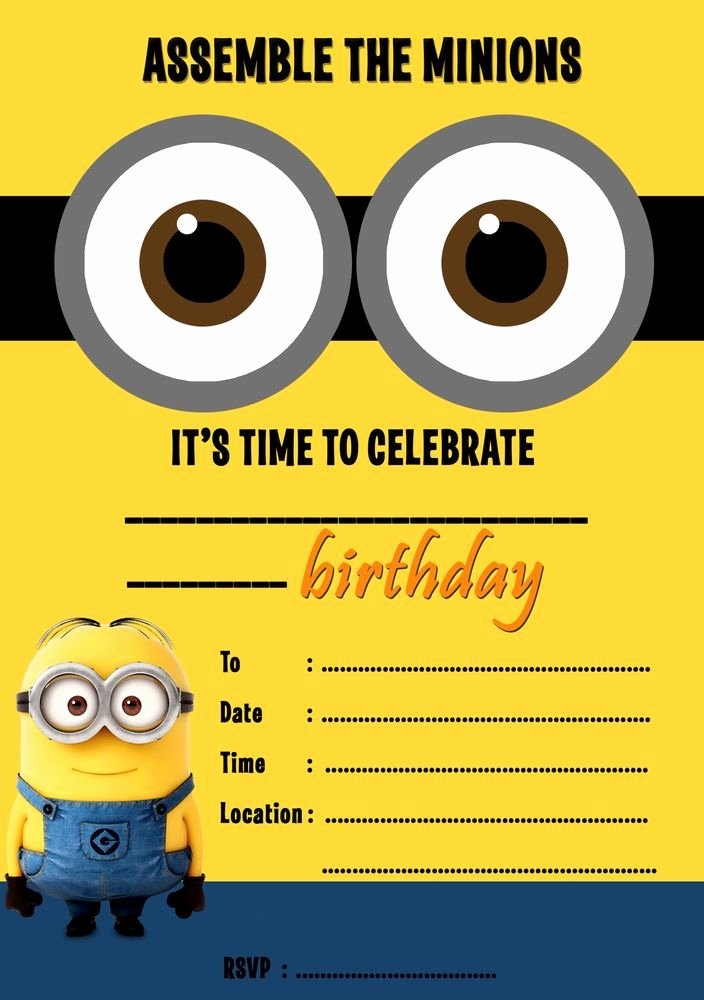 Minions Birthday Invitation Template New Birthday Invitation Templates Minion Birthday Party
