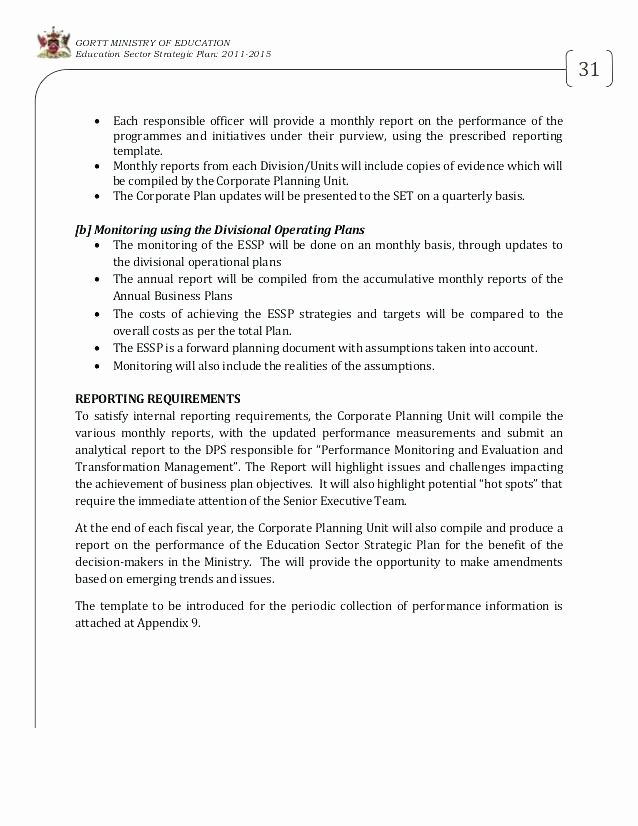 Ministry Strategic Plan Template Inspirational Sample Project Status Report Template Free Word format