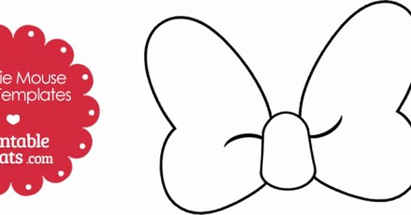 Minnie Mouse Bow Template Beautiful 30 Of Minnie Mouse Bow Template