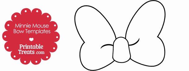Minnie Mouse Bow Template Elegant Printable Minnie Mouse Bow Template — Printable Treats
