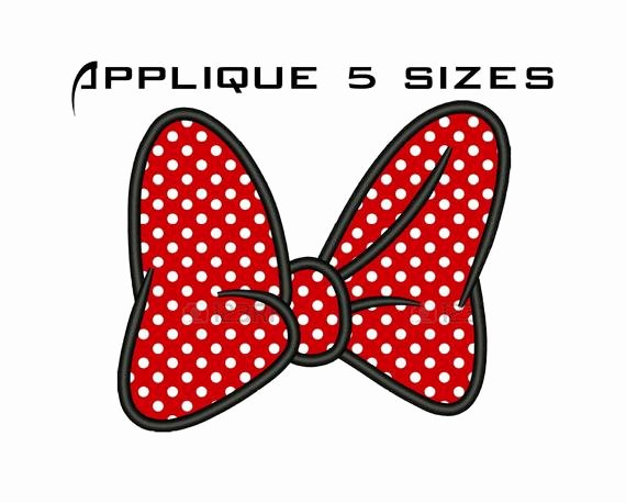 Minnie Mouse Bow Template Inspirational Minnie Mouse Bow Applique Design Minnie Mouse by