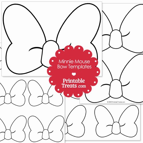 Minnie Mouse Bow Template Luxury Printable Minnie Mouse Bow Template — Printable Treats