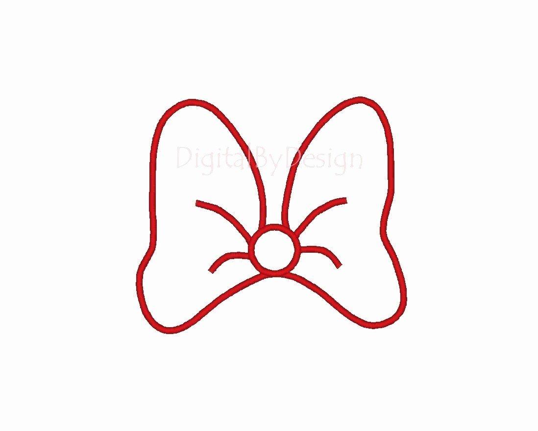 Minnie Mouse Bow Template Unique Minnie Mouse Bow Stencil Disney