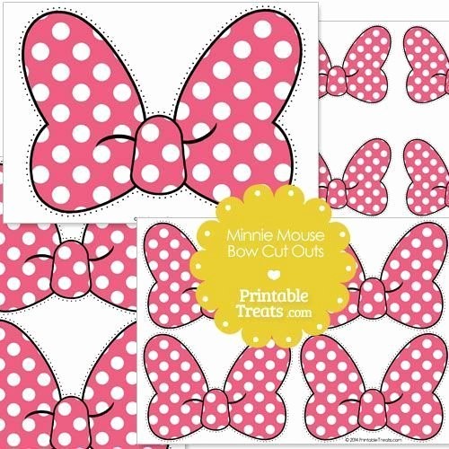 Minnie Mouse Bow Template Unique Minnie Mouse Bow Template Free Download Printable