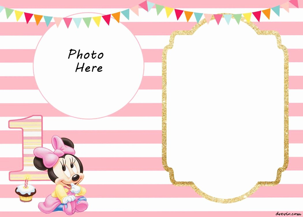 Minnie Mouse Invitation Template Awesome Free Printable Minnie Mouse 1st Invitation Templates