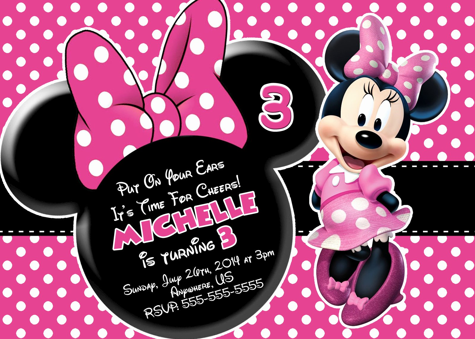 Minnie Mouse Invitation Template Best Of Free Minnie Mouse Printable Birthday Invitations