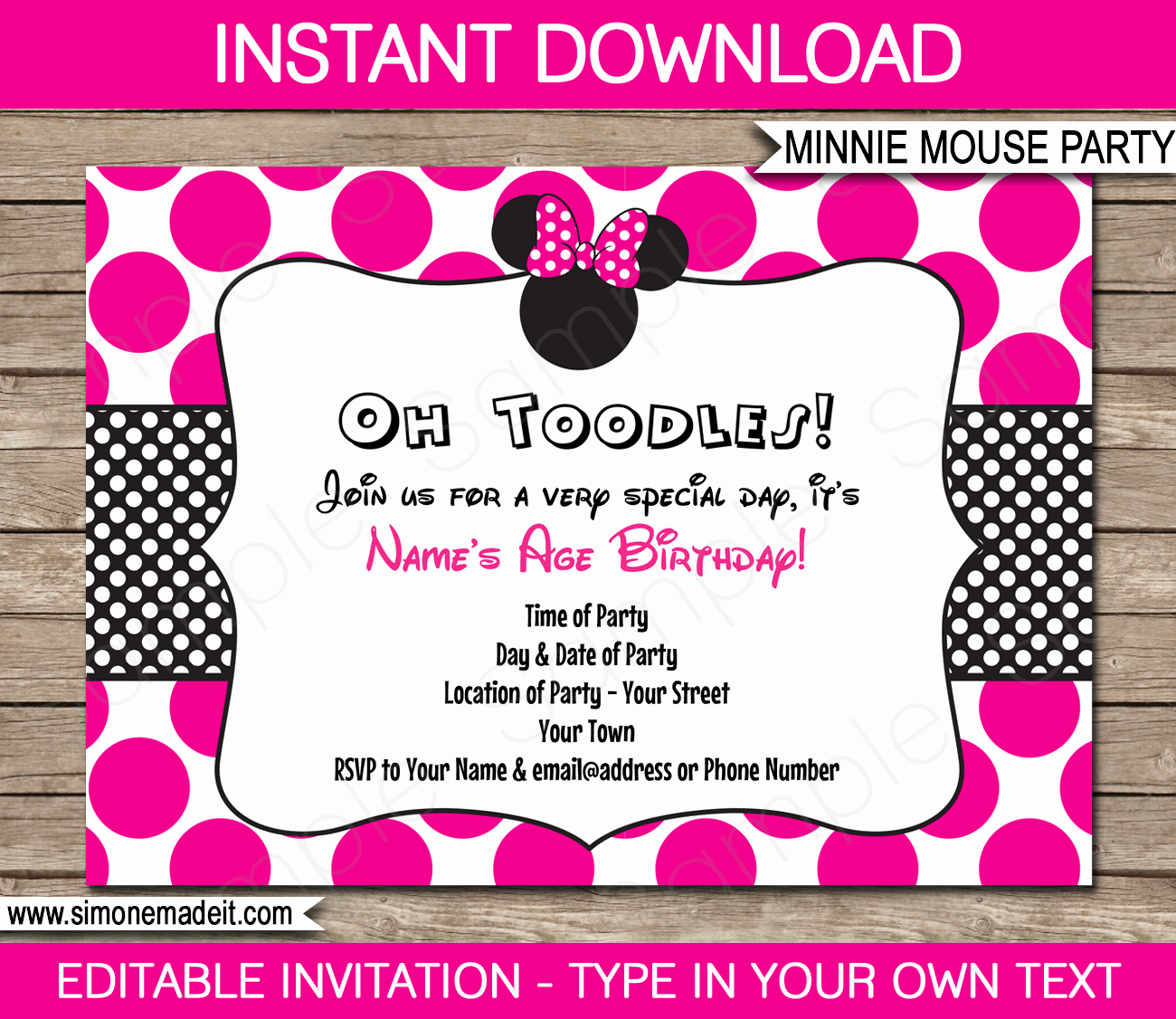Minnie Mouse Invitation Template Best Of Minnie Mouse Party Invitations Template