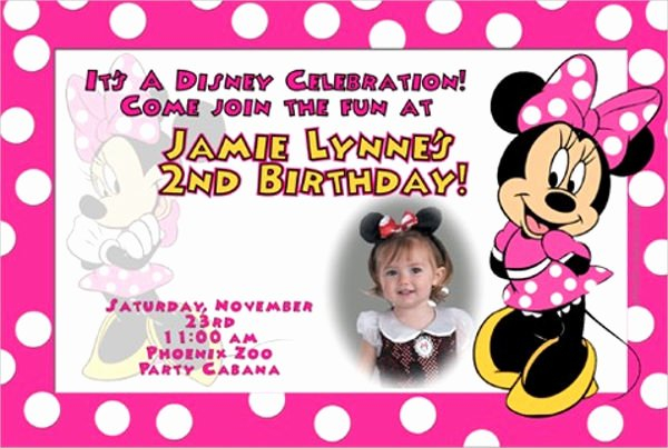 Minnie Mouse Invitation Template Elegant 20 Minnie Mouse Birthday Invitation Templates Psd Ai