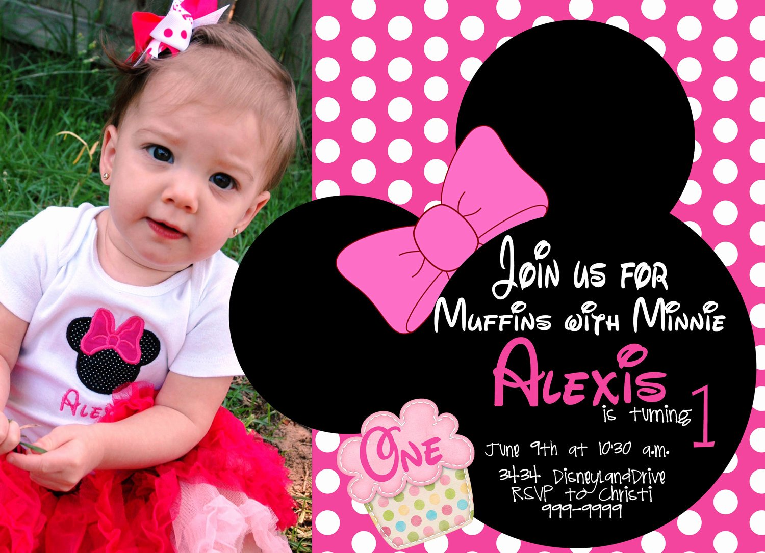 Minnie Mouse Invitation Template Stcharleschill Template
