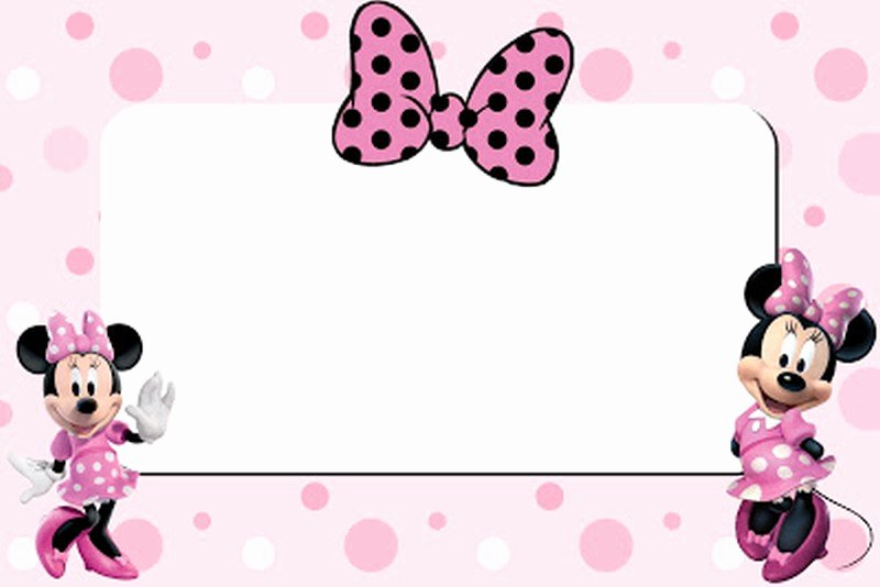 Minnie Mouse Invitation Template Inspirational Free Printable Minnie Mouse 1st Birthday Invitation – Free
