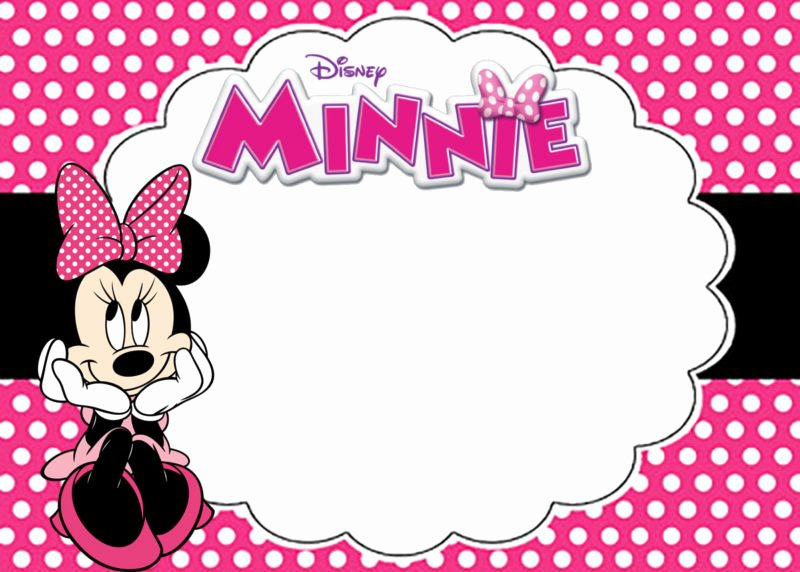 Minnie Mouse Invitation Template Inspirational Free Printable Minnie Mouse Birthday Party Invitation Card