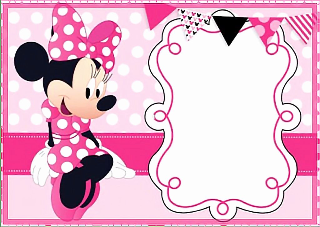 Minnie Mouse Invitation Template Inspirational Printable Minnie Mouse Birthday Party Invitation Template