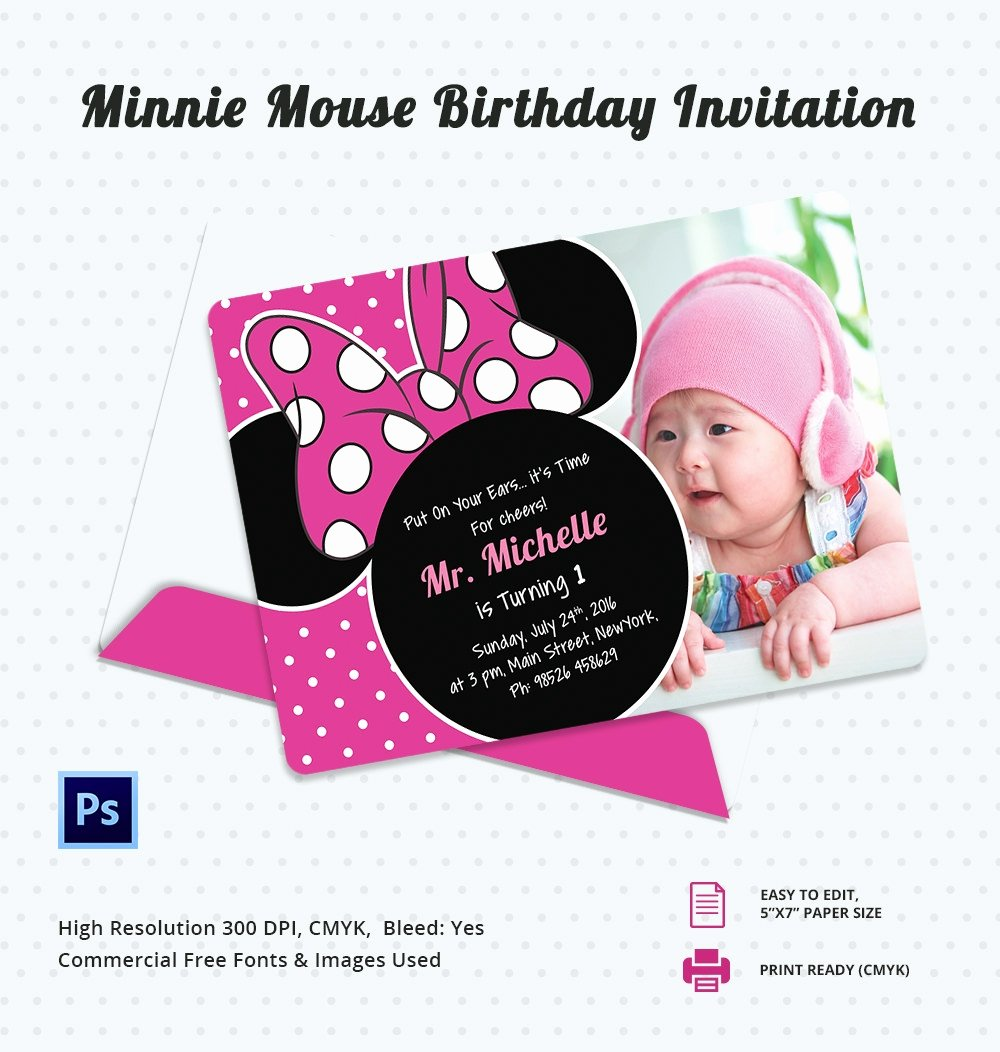 Minnie Mouse Invitation Template Lovely Awesome Minnie Mouse Invitation Template 27 Free Psd