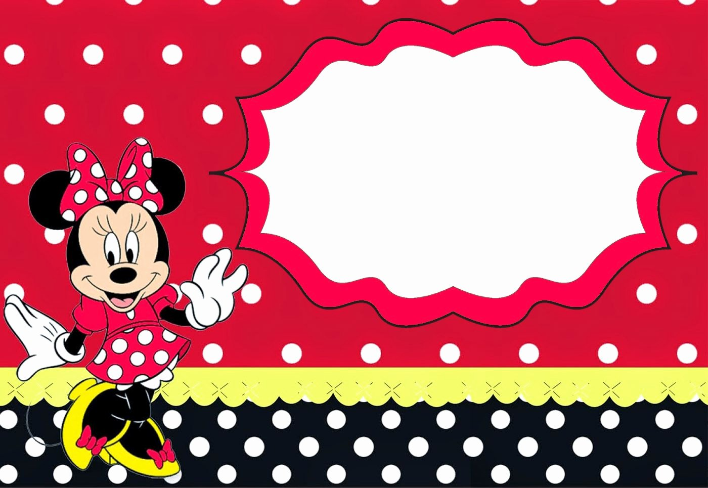 Minnie Mouse Invitation Template Lovely Minnie Mouse Birthday Party Invitation Template