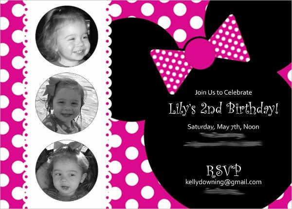 Minnie Mouse Invitation Template Unique 20 Minnie Mouse Birthday Invitation Templates Psd Ai