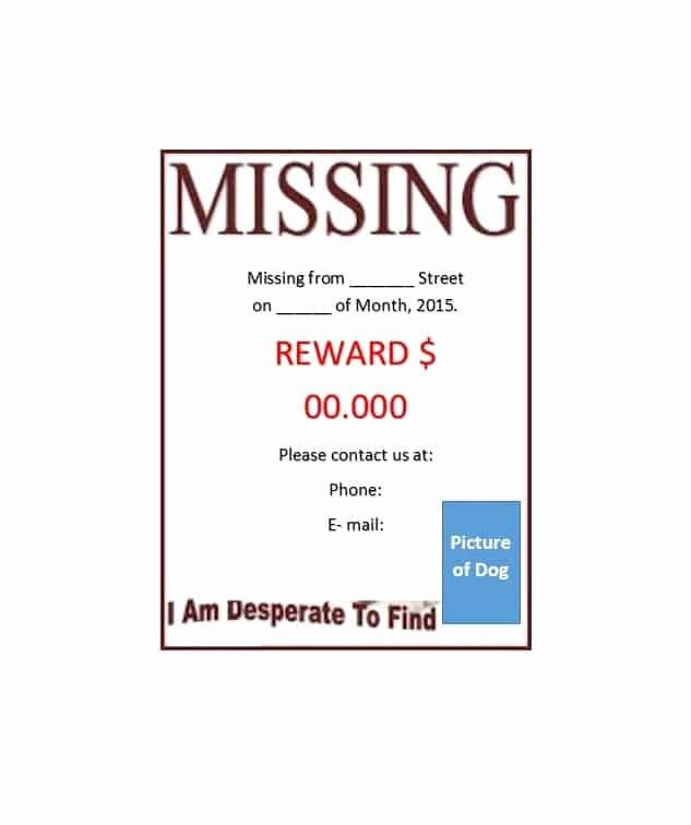 Missing Dog Flyer Template Elegant 40 Lost Pet Flyers [missing Cat Dog Poster] Template