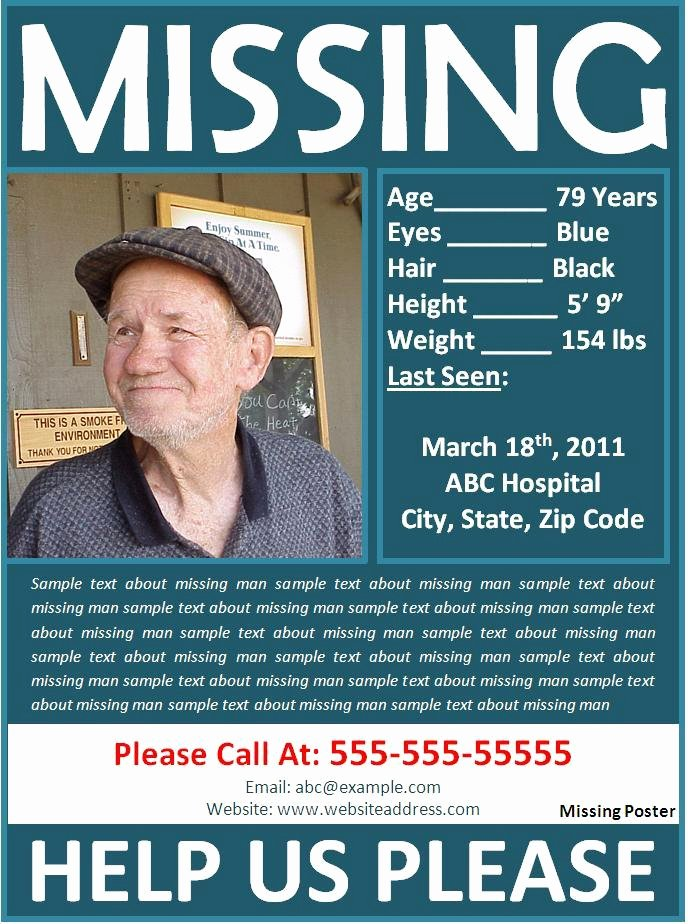 Missing Person Flyer Template Inspirational Missing Person Poster Best Word Templates