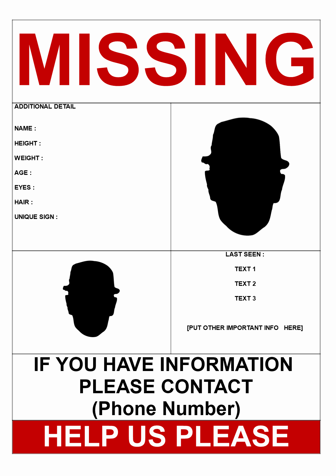Missing Person Poster Template Inspirational Missing Person Template 2 Pictures Download This Find