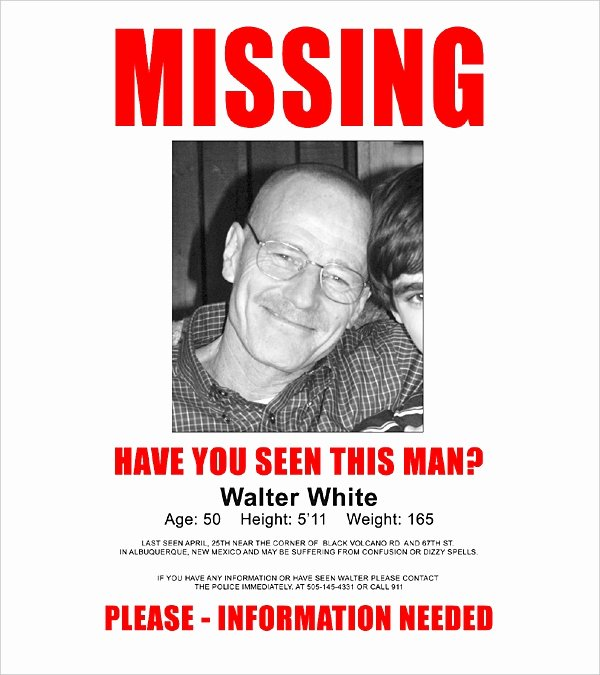 Missing Person Poster Template Lovely 16 Wanted Poster Templates Free Sample Example format