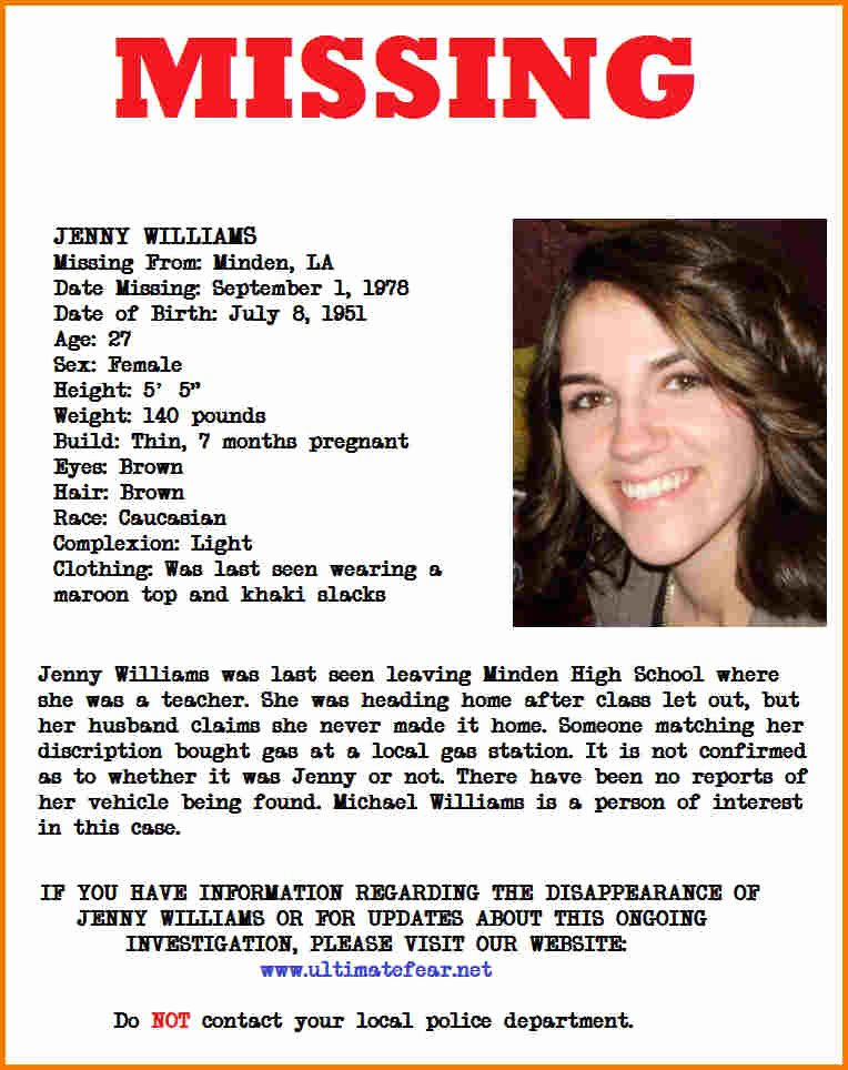 Missing Person Poster Template Lovely Missing Person Poster Template