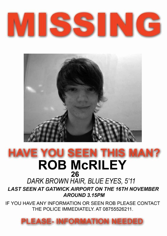 Missing Persons Flyer Template Best Of Missing People Posters 2015