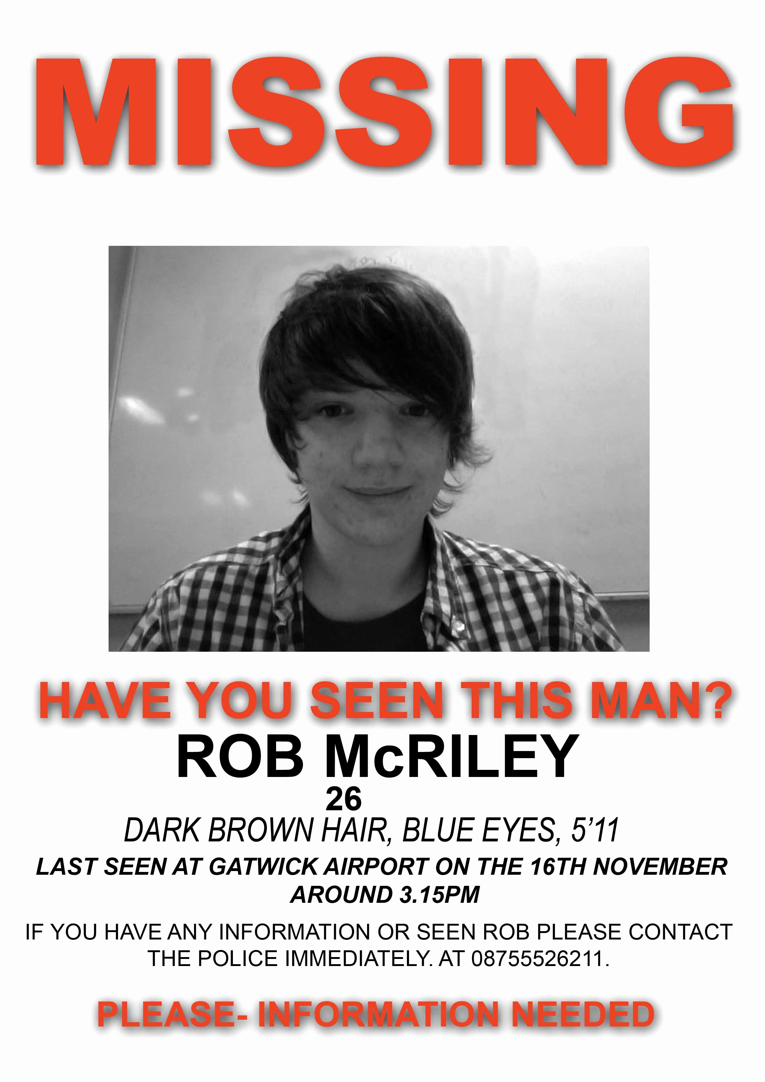 Missing Persons Flyer Template Fresh Creating A Missing Poster for Rob Mcriley Post 1