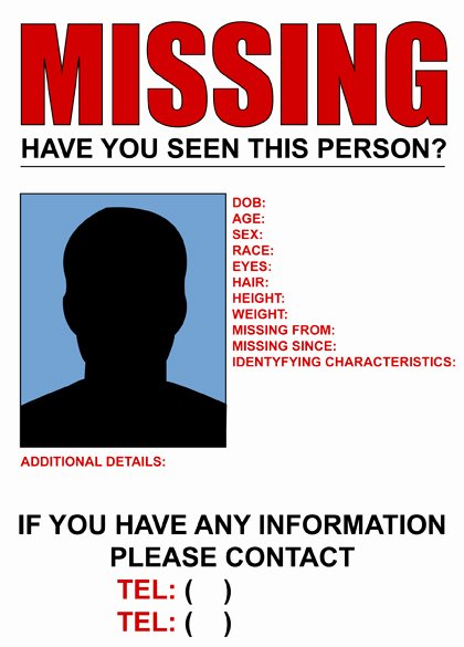 Missing Persons Flyer Template New Missing Poster to Pin On Pinterest Pinsdaddy