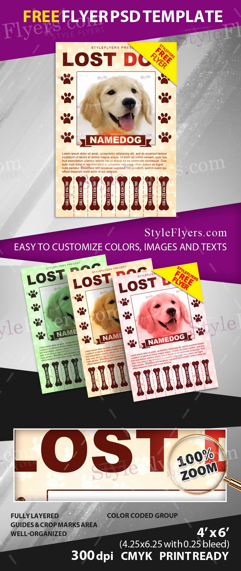 Missing Pet Flyer Template Inspirational Lost Dog Free Psd Flyer Template Free Download