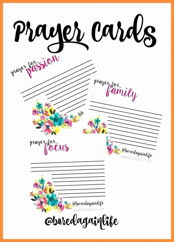 Missionary Prayer Card Template Beautiful Church Program Template Inspirational Prayer Request Cards