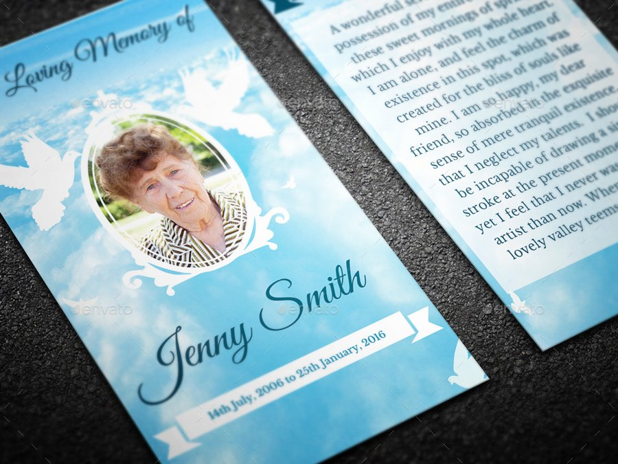 Missionary Prayer Card Template Best Of Peace Funeral Prayer Card Template by Creativesource