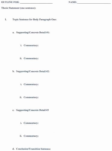 Mla format Outline Template New Mla format Research Paper Outline Examples source