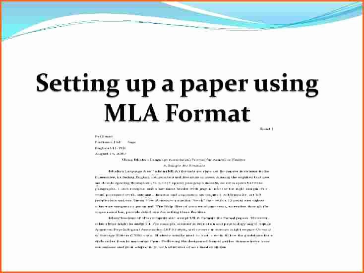 Mla format Paper Template Luxury 8 What is the Mla format for Essays Bud Template Letter
