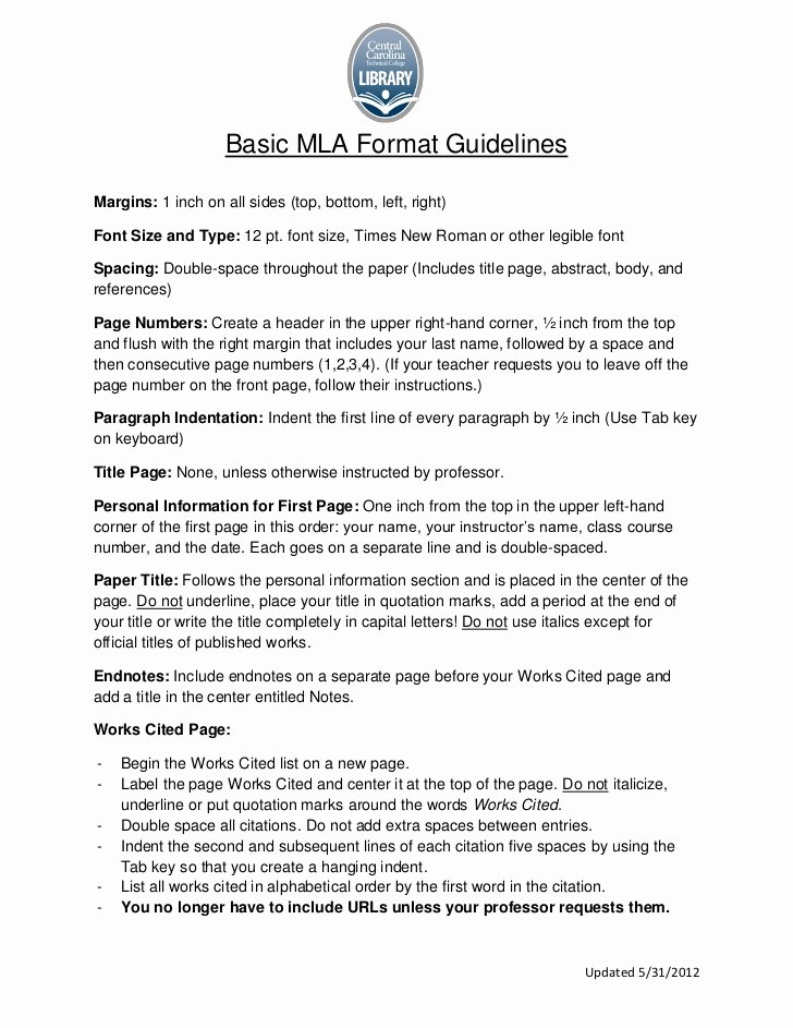 Mla format Paper Template Luxury Research Paper Mla format Font Size