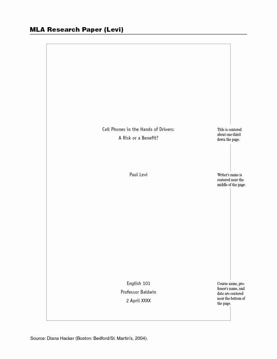 Mla format Paper Template New 38 Free Mla format Templates Mla Essay format