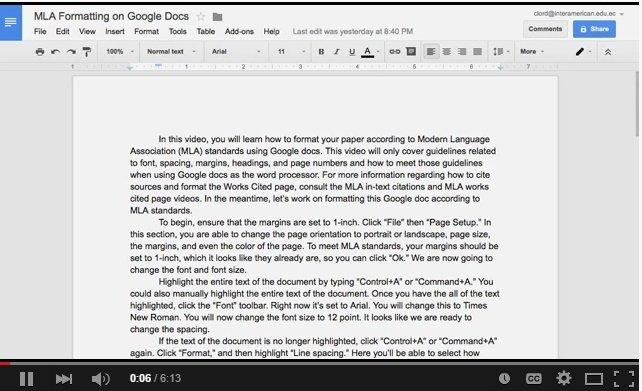 Mla Template Google Docs Fresh Navigating Through Mla On Google Docs – the Twenty
