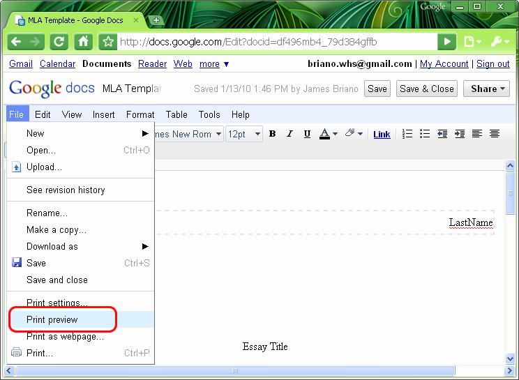 Mla Template Google Docs Inspirational Mla format Mla Template In Word 2007