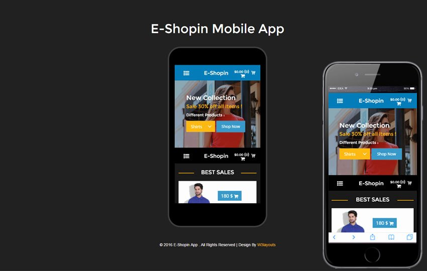 Mobile Apps Website Template Awesome Mobile App Website Templates Designs Free
