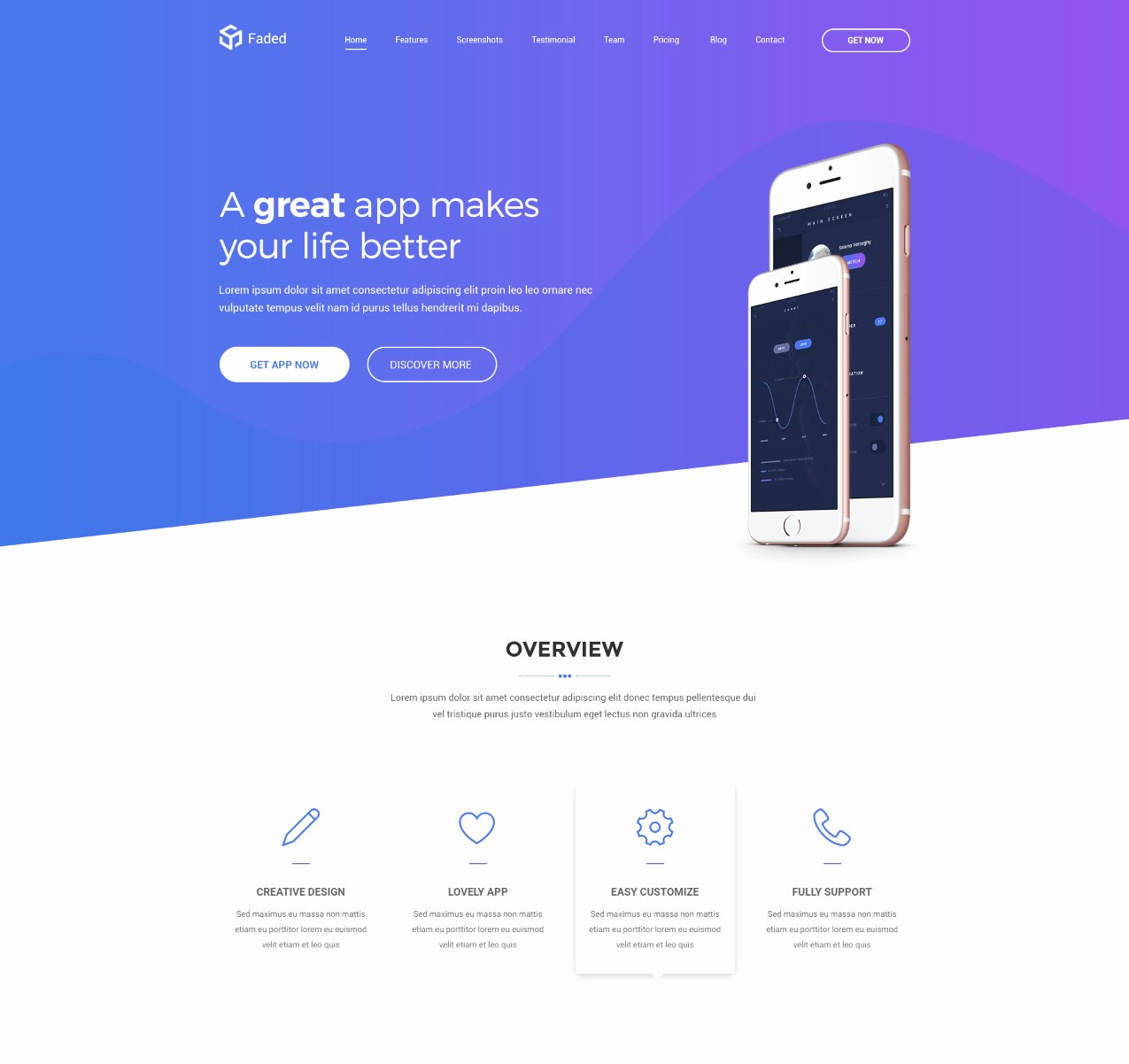 Mobile Apps Website Template Best Of Best Bootstrap HTML Website Templates for Mobile Apps