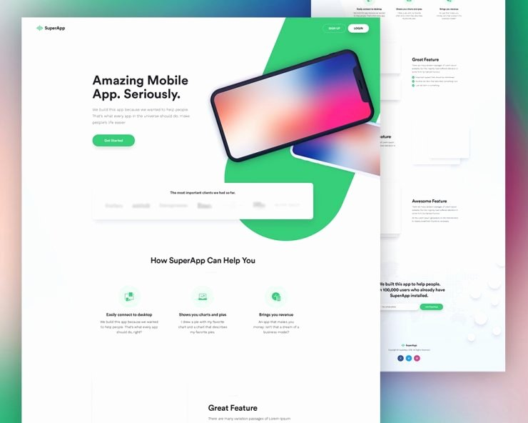 Mobile Apps Website Template Best Of Free Mobile App Website Template Psd Download Psd
