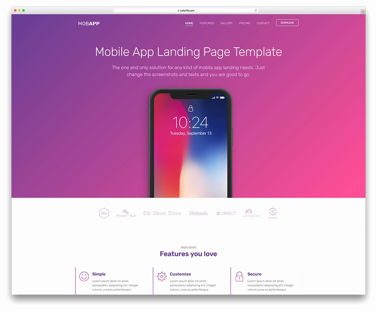Mobile Apps Website Template Best Of top 21 Free E Page Website Templates Built with