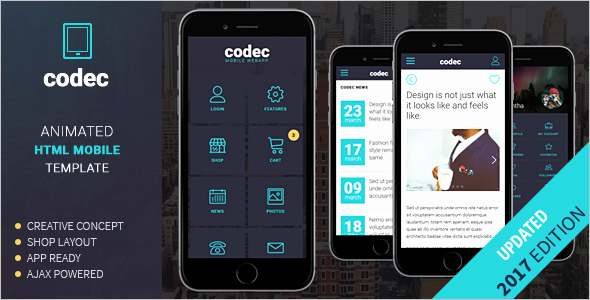 Mobile Apps Website Template Elegant 25 Best Mobile HTML Templates Free & Premium themes