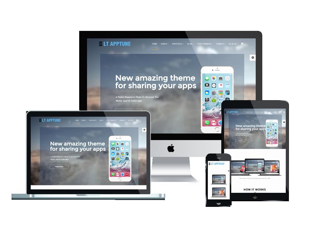 Mobile Apps Website Template Inspirational Lt Apptune – Free Joomla Mobile App Template