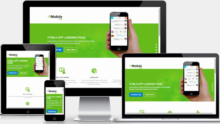 Mobile Apps Website Template Inspirational Mobile App Landing Page Free Download